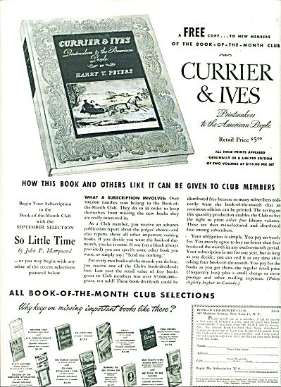 Currier & Ives printmakers ad - 1943 (Image1)
