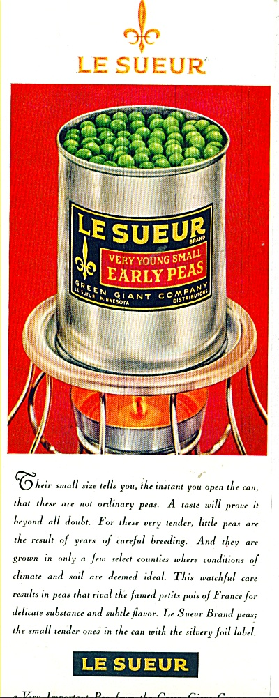 Le Sueur early peas ad   - 1961 (Image1)