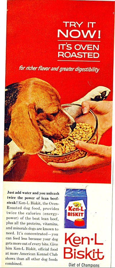 Ken-L Biskit dog food ad - 1963 (Image1)