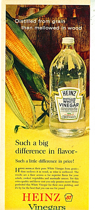 Heinz distilled wshite vinegar ad - 1962 (Image1)