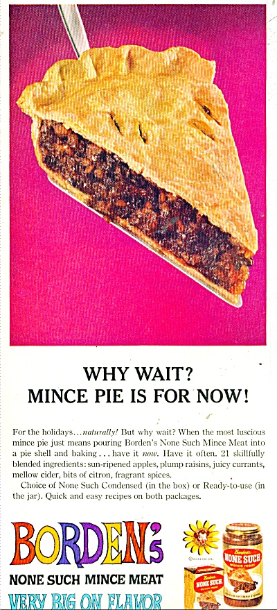 Borden's Non Such Mince Meat Ad - 1961