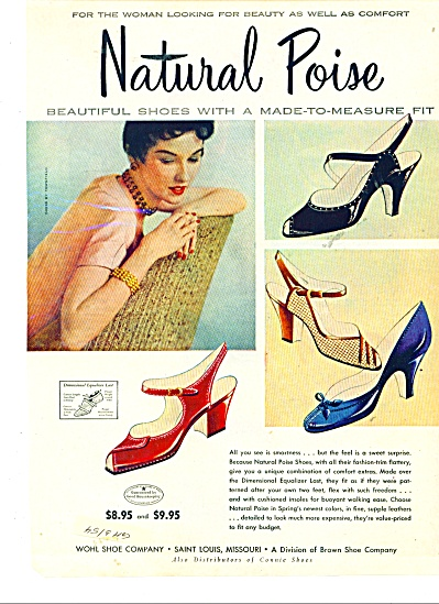 Natural Poise shoes ad - 1954 (Image1)