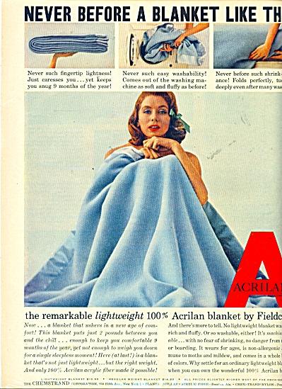 1956 Fieldcrest AD SUZY PARKER in BLANKET (Image1)