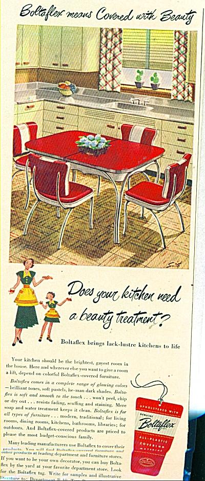 Boltaflex  covered furniture  ad - 1949 (Image1)