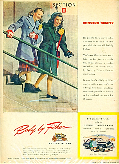 VINTAGE LADIES Body by Fisher ad (Image1)