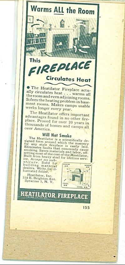 Heatilator fireplace ad - 1948 (Image1)