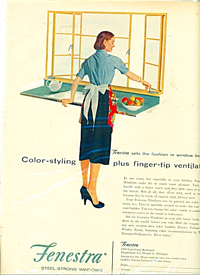 fenestra steel strong windows ad -  1956 (Image1)
