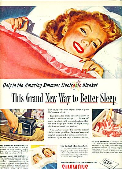 1946 SIMMONS Blanket AD JON WHITCOMB ART (Image1)