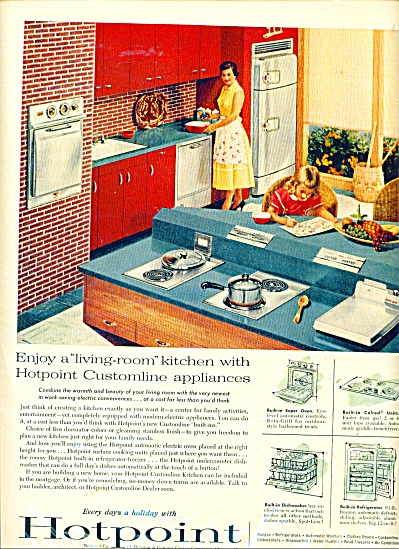 Hotpoint Co. ad - 1956 (Image1)