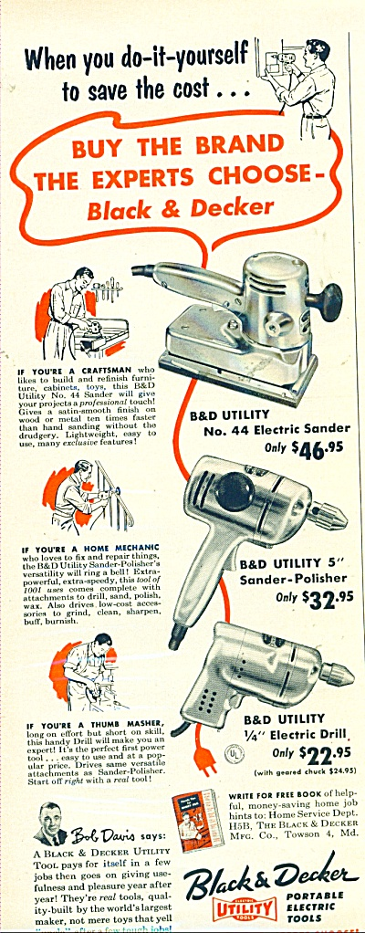 Black & Decker Portable Electric Tools Ad