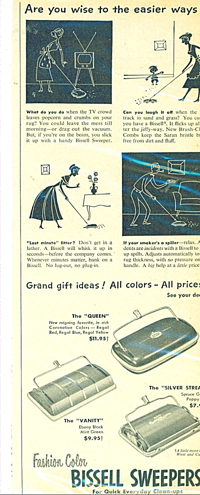 Bissell Sweepers ad - 1953 (Image1)