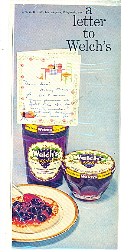 Welch's the Fruit of the vine  ad - 1957 (Image1)
