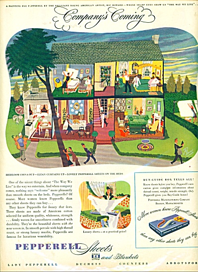 Pepperell Linen AD RICHARD  HOWARD ART (Image1)