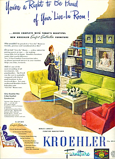 Kroehler Furniture ad    1945 (Image1)