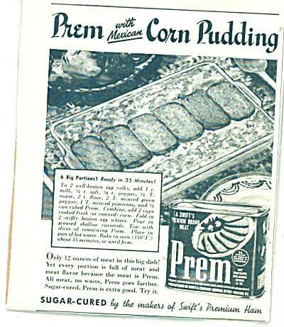 Prem with Mexican corn pudding ad - 1943 (Image1)