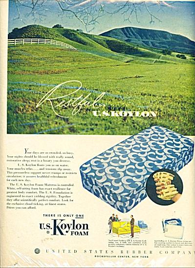 U. S. Koylon Foam ad - 1951 (Image1)