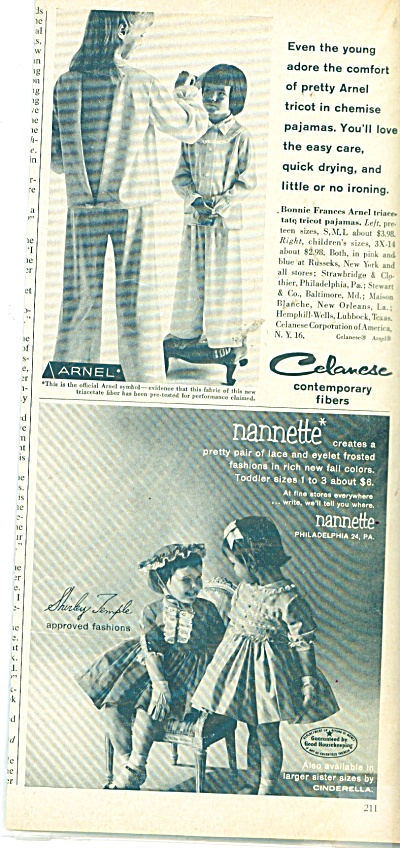 1958 Celanese  and Nannette Childrens AD (Image1)