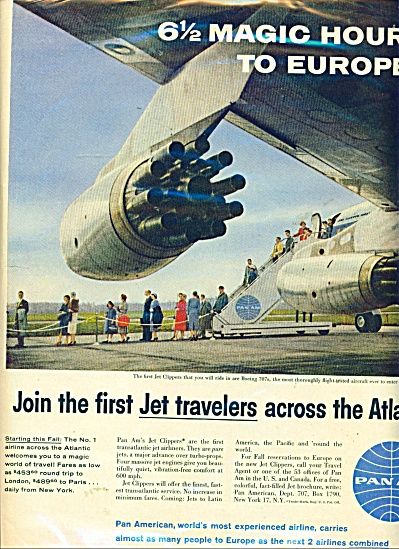 Pan Am Jet airlines ad JOIN JET clippers (Image1)