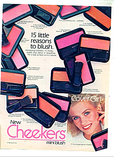 1986 COVER GIRL AD CHEEKERS Model (Image1)