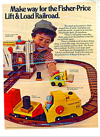 Fisher-Price lift and load railroad ad - 1978 (Image1)