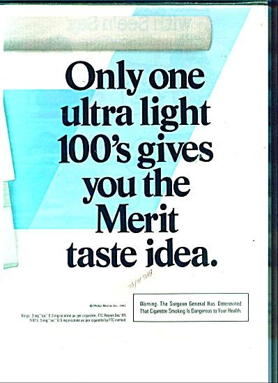 Merit  taste idea  ad - 1982 (Image1)