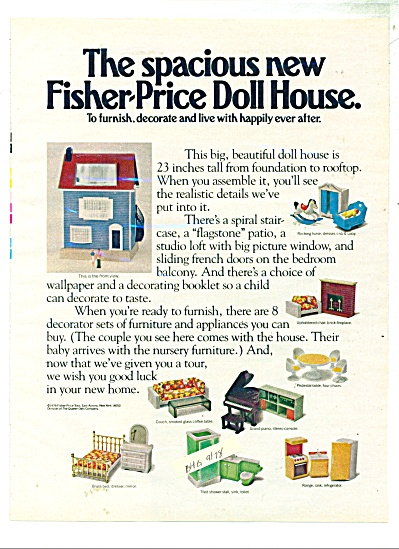 1978 Fisher Price Doll house AD 2pg Furniture (Image1)