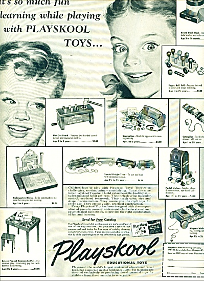 Playskool educational toys ad (Image1)