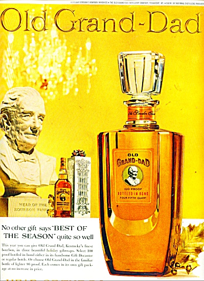 Old Grand-Dad 100 proof ad - 1961 (Image1)
