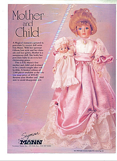 Mother and Child doll - Mann co.  ad   1991 (Image1)