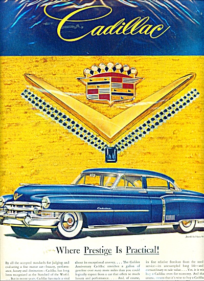 1953 Chevrolet Cadillac Ad BLUE JEWEL Caddy (Image1)