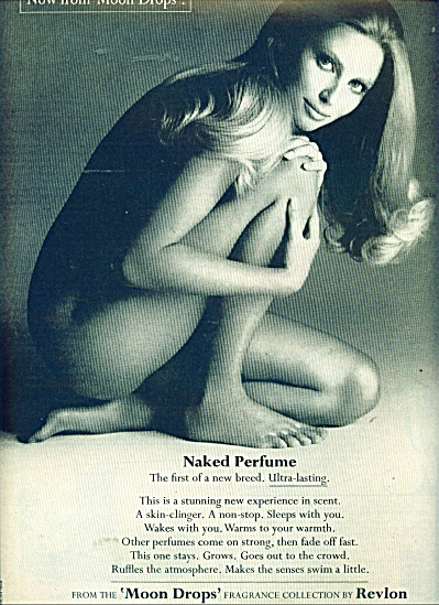 1970 EVELYN KUHN Nude REVLON Moon Drops AD (Image1)