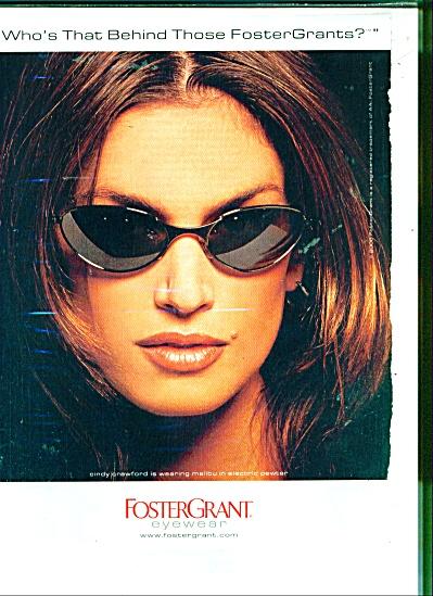 Foster Grant eyewear(CINDY CRAWFORD)  AD (Image1)