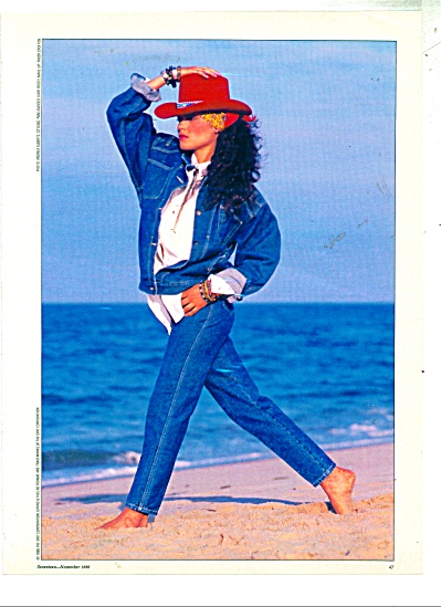 1986 GITANO Express AD Beautiful FASHION MODE (Image1)