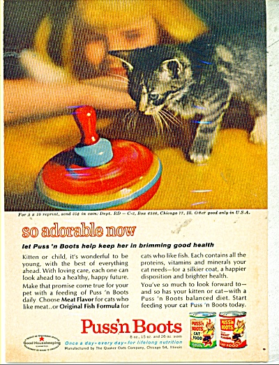 Puss'n Boots cat food ad (Image1)