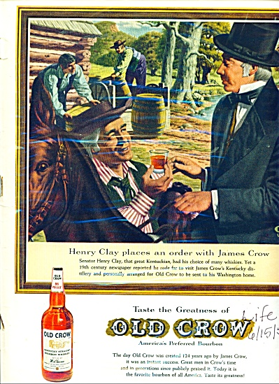 Old Crow bourbon whiskey ad - 1959 (Image1)