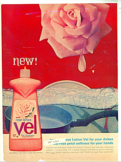 VEL for dishes ad - 1964 (Image1)