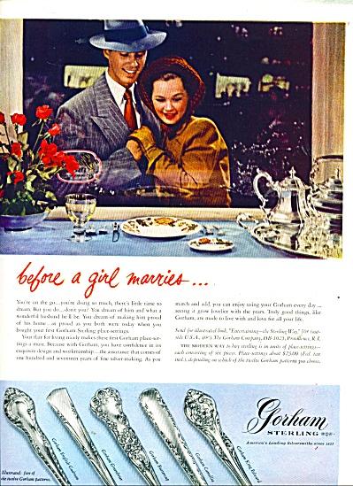 Gorham Sterling ad VINTAGE 12 PATTERNS (Image1)