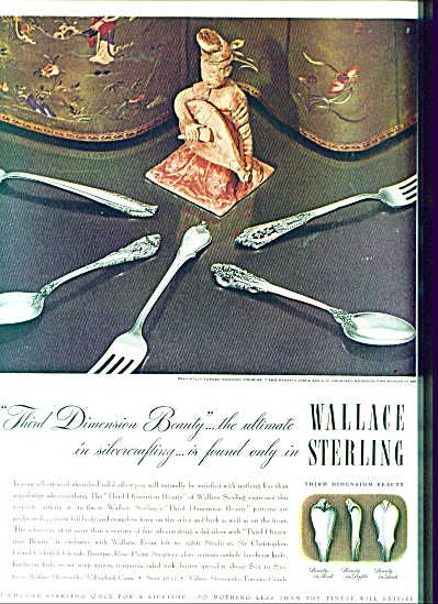 1940's Wallace Sterling Silver Ad Christopher