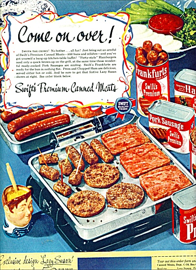Swift's Premium canned meats ad 1950 (Image1)