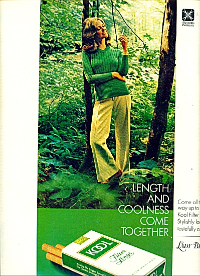 Kool filter longs cigarettes ad Fashion Model (Image1)