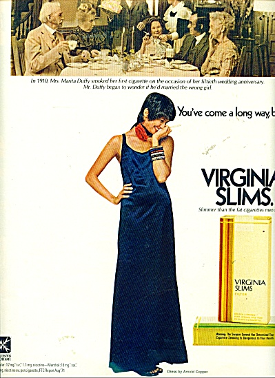 Virginia slims cigarettes ad MARITA DUFFY (Image1)