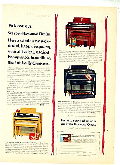 Hammond Organ Ad   1962 3 MODELS ORGANS (Image1)