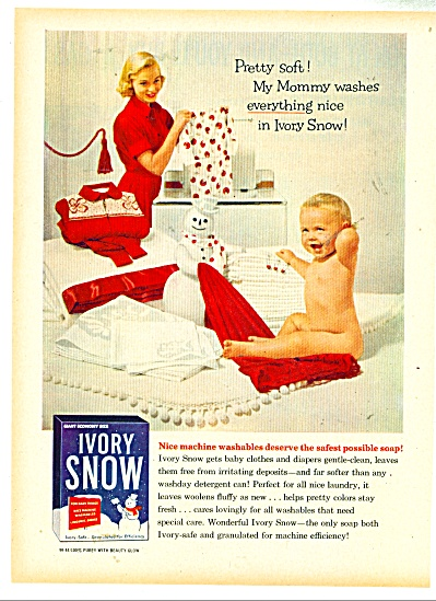 Ivory Snow Soap AD Nude Baby - Mother (Image1)