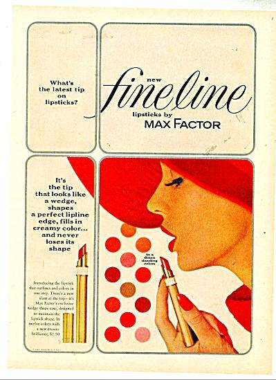 1962 MAX FACTOR Lipstick AD Beautiful Model (Image1)