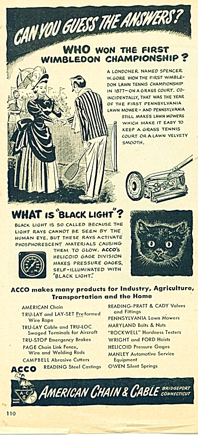 American Chain & Cable ad - 1950 (Image1)