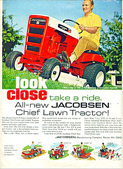 New chief LT 750 Jacobsen tractor ad - 1968 (Image1)
