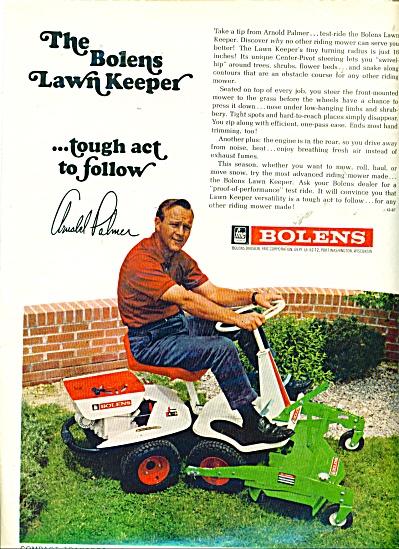 Bolens lawn tractor - ARNOLD PALMER  -67 (Image1)