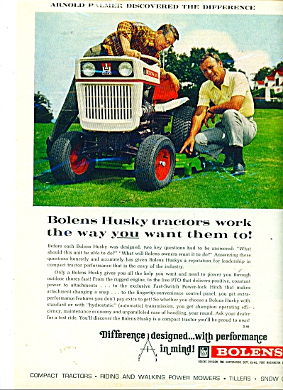 Bolens lawn Tractor ad =ARNOLD PALMER (Image1)