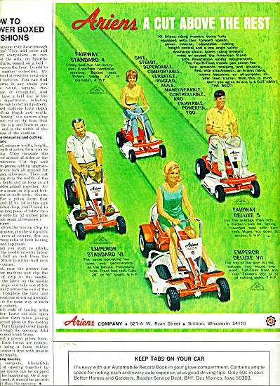 Ariens lawn cutters ad -  1968 (Image1)