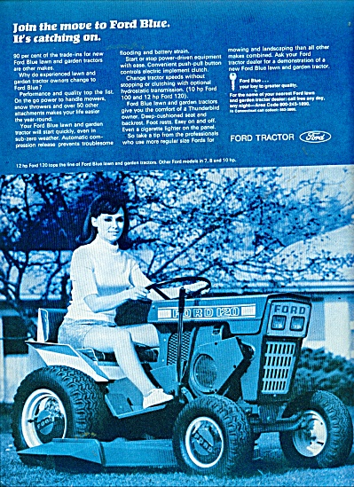 Ford lawn tractor ad 1969 BEAUTY RIDING (Image1)
